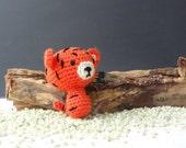 Amigurumi tiny crochet tiger toy