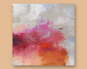 """Original Abstract Art Painting  •  12"""" x  12"""" Contemporary Art  • FLOATING SQUARE #6  •  Oil Painting"""