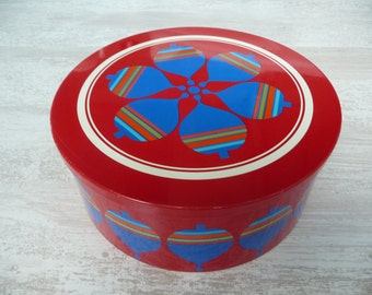 Vintage cannister from Simel Viche Espana with a beautiful colorful decoration