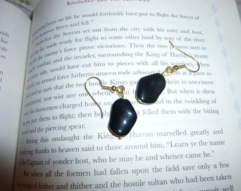 Simple Black Stone Earrings