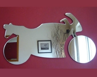 Motorbike Shaped Mirrors - 5 Sizes Available