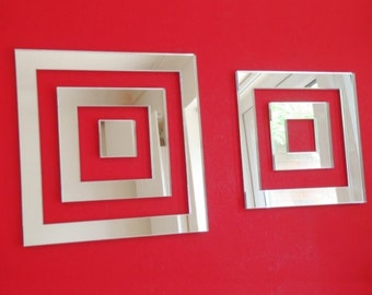 Square Infinity Shaped Mirrors - 5 Sizes Available