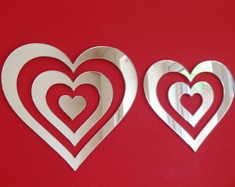Hearts Infinity Mirrors - 5 Sizes Available