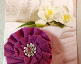 Canvas flower beaded brooch