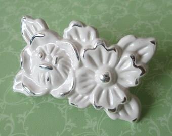 Cream White Dresser Knobs Pulls Drawer Knob Pulls Handles Knobs Cabinet Handles Door Knob Chic Gold Silver Rose Flower Decorative Furniture