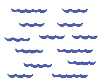 Water Border - Water Waves Fabric Wall Decals