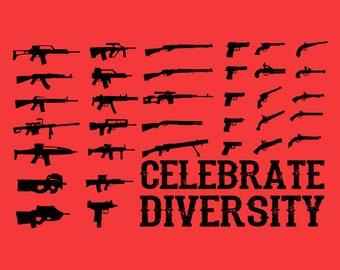 Celebrate Diversity Gun Shirt
