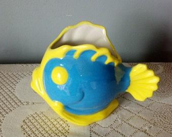 Ceramic Cartoon Fish Planter Medium