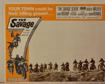 "Lobby Card    ""The Savage Seven""    Original   1968 Lobby Card #7 - Penny Marshall"