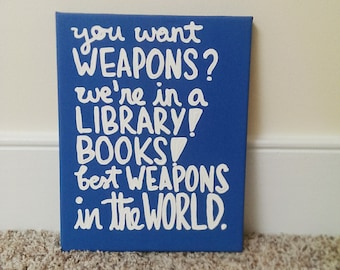 Doctor Who Books Canvas Quote Art