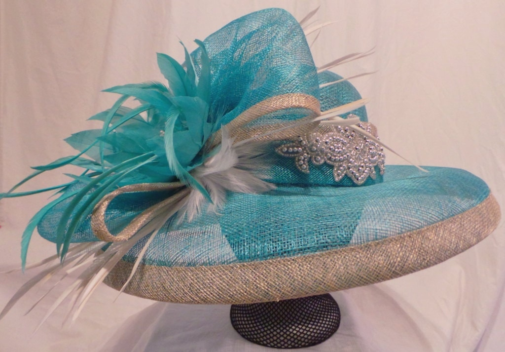 Teal Silver Amp White Kentucky Derby Hat Seattle