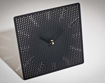 Black Contemporary Square Clock