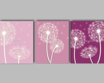 Dandelion Nursery Bedding Decor Girls Dandelion Nursery Art Baby Girl Nursery Art Dandelion Bedding Decor Choose Colors by inkspots DA4107