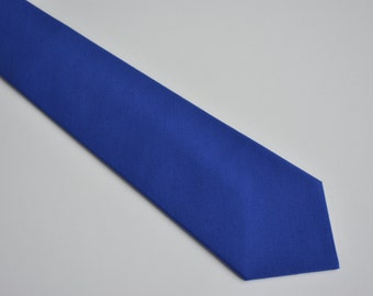 Royal blue necktie for men, groom neck tie, kids neckties