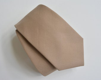 Mens neck tie - taupe color neck tie,cotton neck ties
