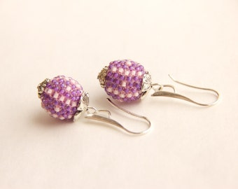 Sale. Price reduced by %50. Beaded earrings  Charm   Jewelry Beadwork gift