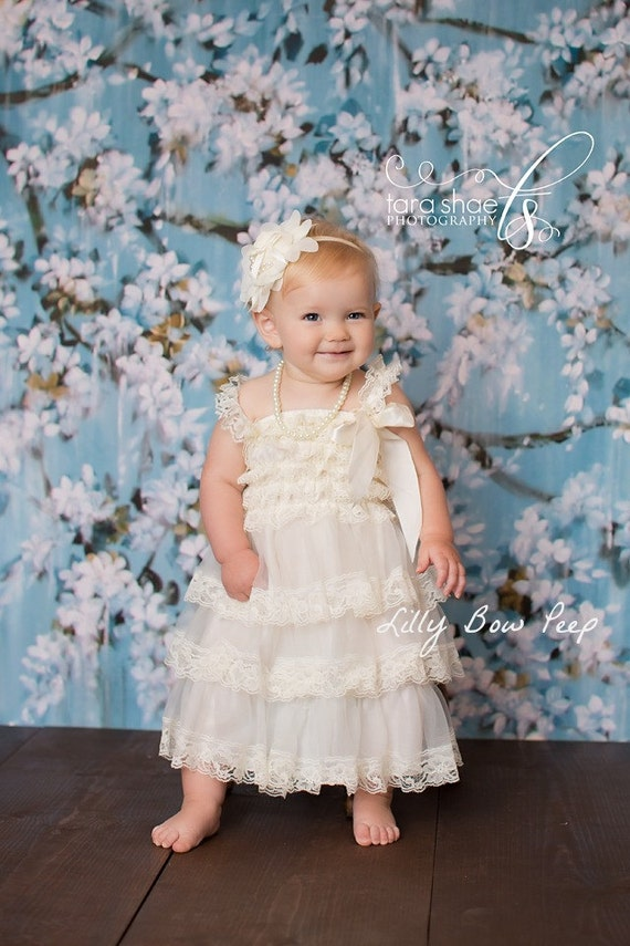 Baby girl clothes dress baby dress baptism dress by for Wedding dresses for newborns