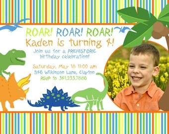 Dinosaur ROAR Birthday Invitation