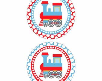 4 Inch Choo Choo Train DIY PRINTABLE Circles