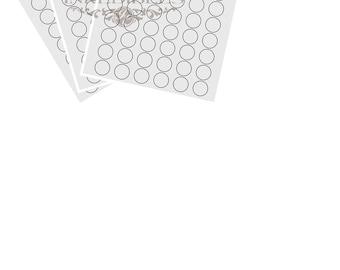 Inkedibles premium Frosting Sheets 24 sheets: Precut 1.25 inch circles (48 circles per sheet) on A4 size backing