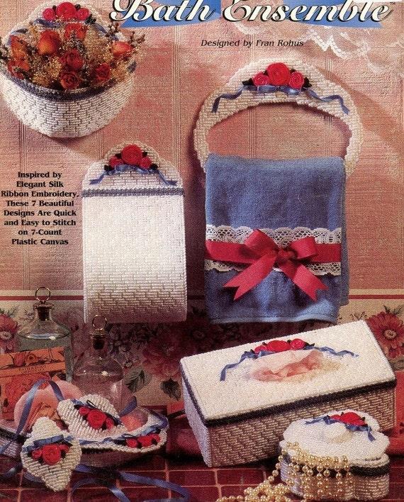 Plastic Canvas Book Cover Patterns ~ Plastic canvas bath set pattern book designs tissue cover