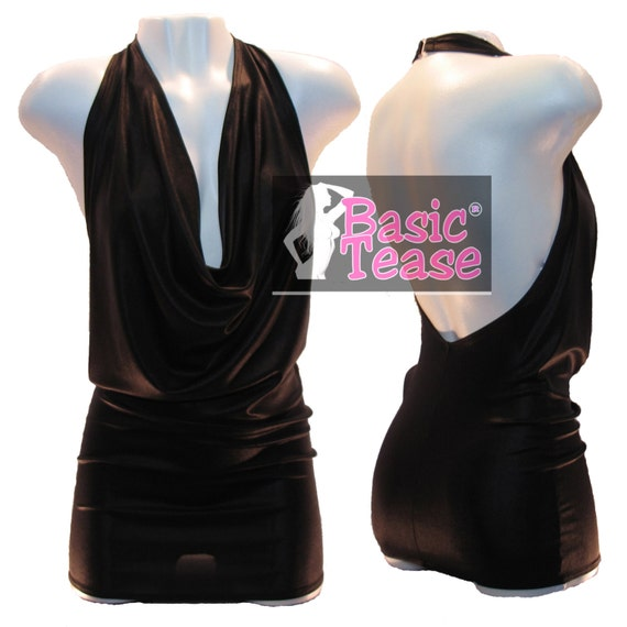 Slinky Classic Mini Cowl Dress for Strippers,  Exotic Dancers, Or a Sexy Night On The Town