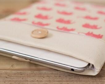 "Macbook Air sleeve 13 inch Macbook Pro Retina case, 13"" Custom Laptop sleeve / Pink Elephant"