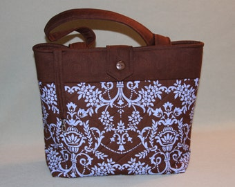 Custom Brown and Blue Tote Bag