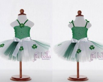 TUTU DRESS...St Patrick's Day Tutu Dress...Newborn Tutu...Baby Tutu...Toddler Tutu...Cakesmash Tutu...Birthday Tutu...Summer Dress