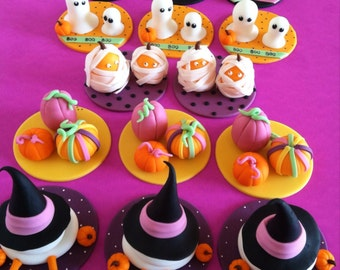 Halloween set of cupcake toppers