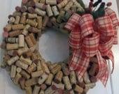Wine Cork Wreath, Cork Wreath, Wreath