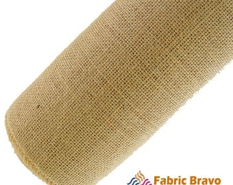 """Natural Burlap Fabric - 60"""" Wide and Sold By The Yard and Rolls"""