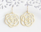 Rose Flower Dangle Earring, Mothers Day, Drop Earrings, Mother Earrings, Bridesmaid Earring, Gift for Mom, Gift for Best Friend