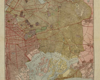 Queens , New York  (1923) Map Print