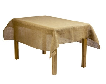 60x102 Burlap Tablecloth   Great To Fit A 6ft Rectangle Banquet Table