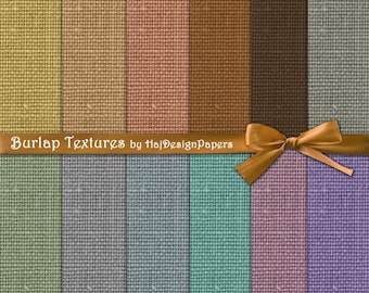 "Burlap digital paper: ""Burlap Textures"" digital burlap / linen digital papers in neutral, earthy, brown colors, linen textures, scrapbook"