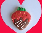 Chocolate Covered Strawberry Cookies - 1 Dozen