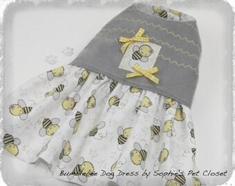 Bumblebee Dog Dress - XS,S,M,L,XL - Pet Fashion Dress,Designer Pet Outfit, Trend Pet Dress, Pet Clothes, Dog Clothes, Spring Dog Dress