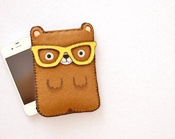 Nerd bear - Smartphone iPhone Samsung HTC Sony case bag cover