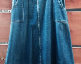 70's Denim Wrap Skirt