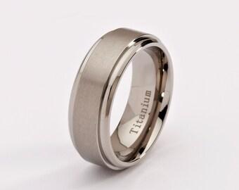 8mm Titanium Wedding Band