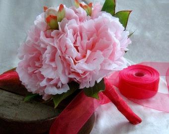 Peony Bridesmaid's Bouquet, Peony Bouquet, Pink Peony Bouquet, Bridesmaid's Bouquet