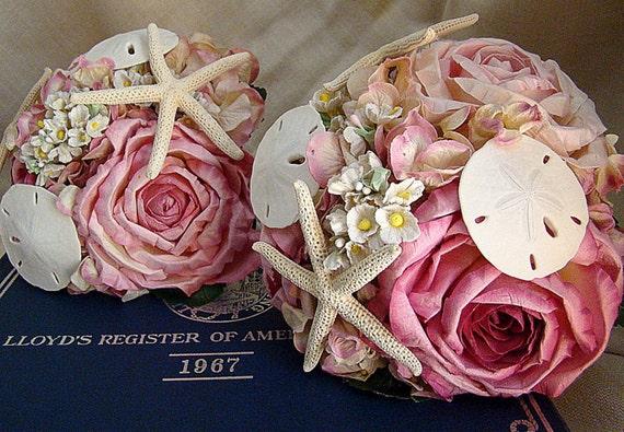 Beach Bouquet Pink Nautical Wedding Flowers Package