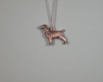 Sterling Silver English Springer Spaniel pendant