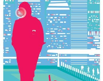 "Her (2013) Inspired Movie Poster, ""641"", by Cutestreak Designs. 2013."