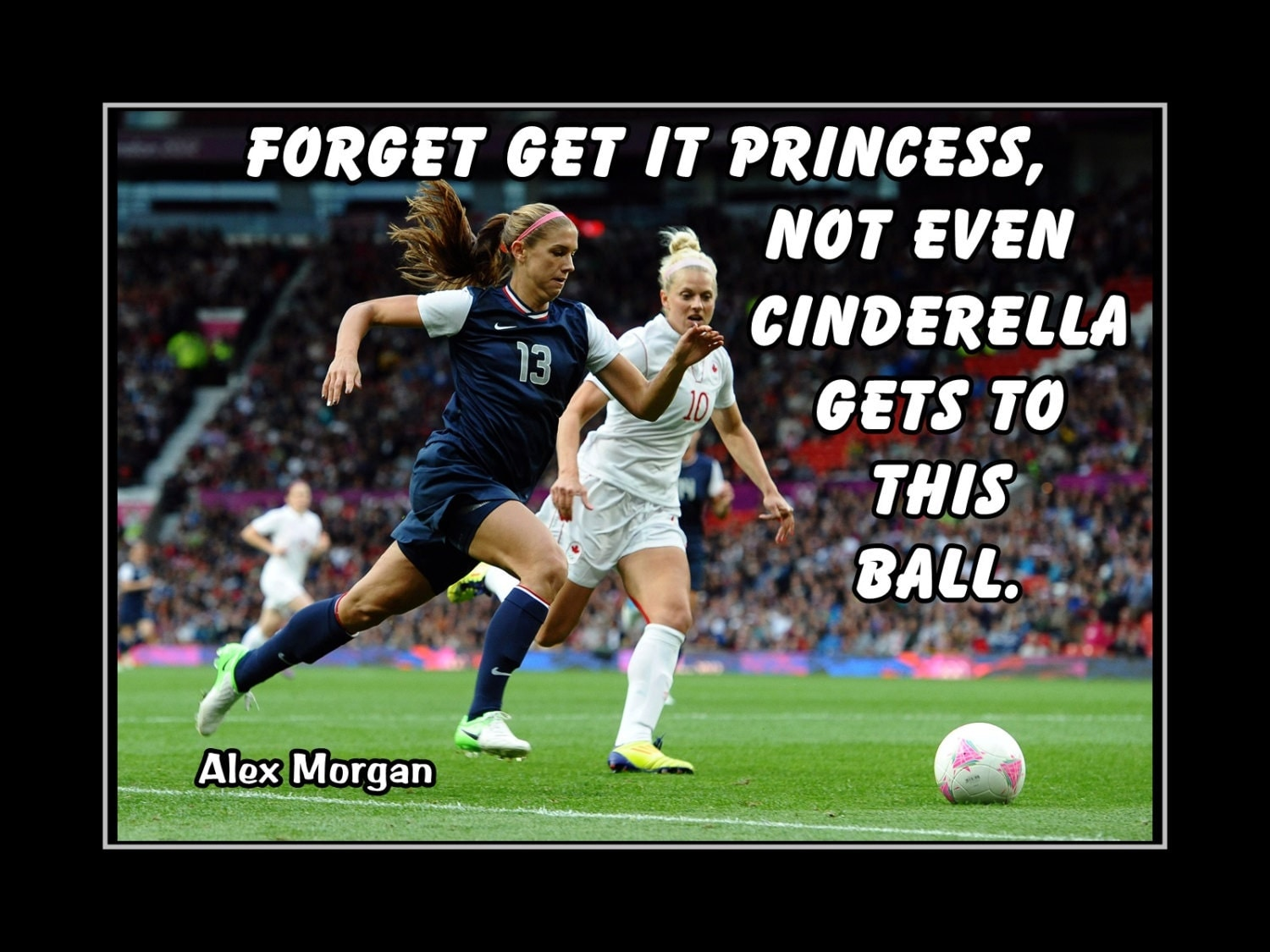 Soccer Poster Alex Morgan Photo Quote Wall Art By