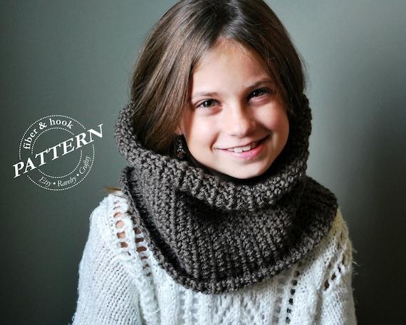 Crochet Pattern Ribbed Edge Cowl Pattern Infinity Cowl Etsy