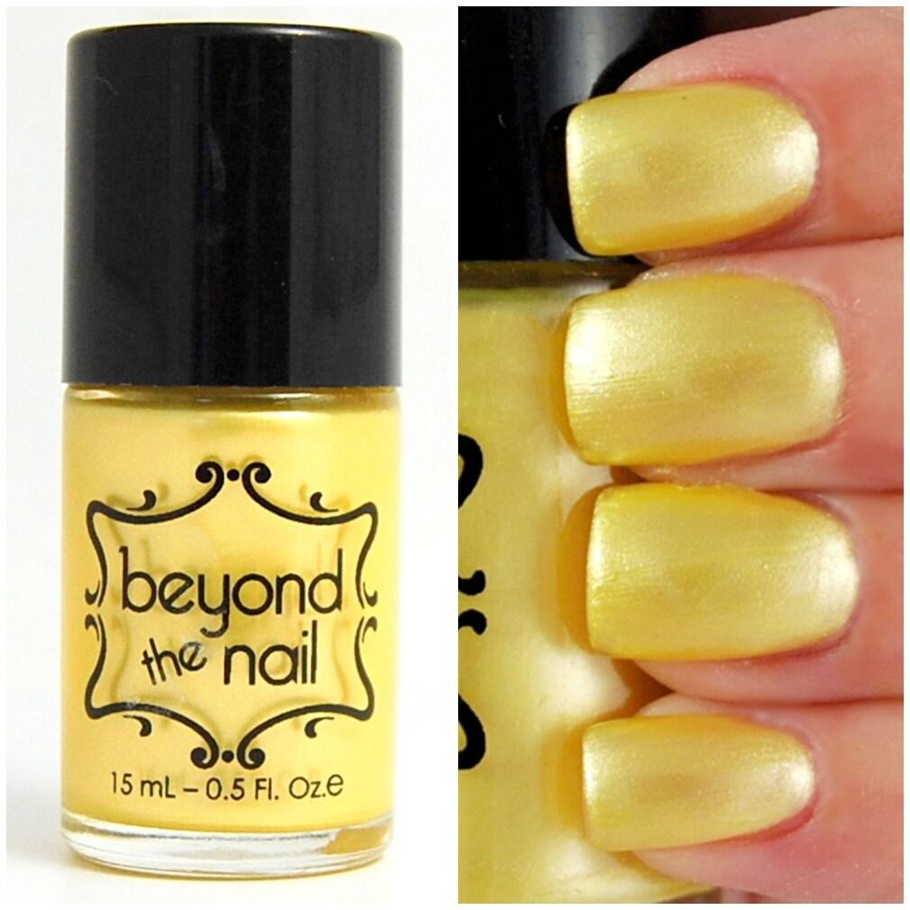 Yellow Nail Polish On: Pale Yellow Pearl Nail Polish