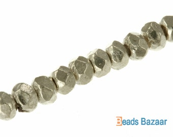 Faceted Plain Hexagon Spacer, 3.3mm - Karen Hill Tribe silver