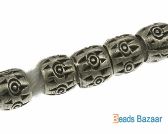 Karen Hill Tribe silver Tribal Printed Ball Spacer, 4.8 mm